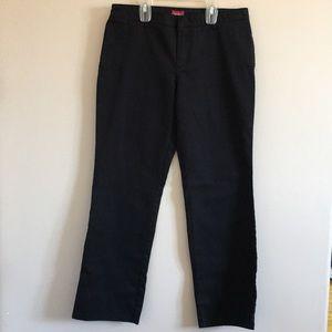 Dickies   Black Straight Leg Flat Front Work Pant